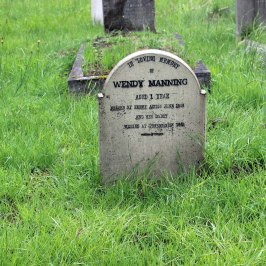 Wendy Manning killed by enemy action aged 1