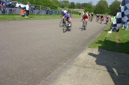 A typical Eastway sprint finish in 2006