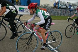 Olympic mega-star Laura Trott in 2006 and main picture above at Cleary's in 2005