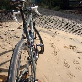 On Vauxhall beach, yes it's the seaside as far as Teddington Lock I believe. 28 Challenge Roubaix's feature on my summer cross bike.